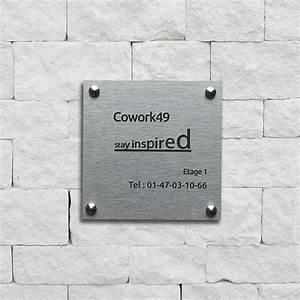 Plaque Alu Brossé : plaque professionnelle alu bross exaplac ~ Edinachiropracticcenter.com Idées de Décoration