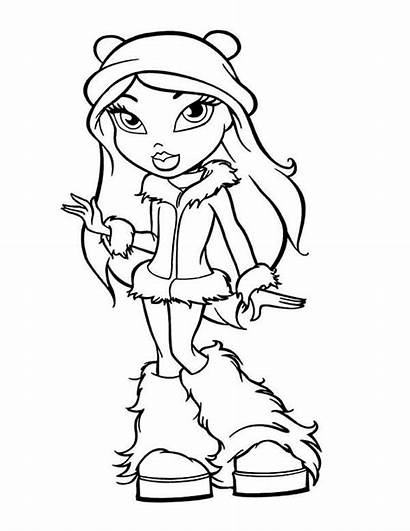 Coloring Teen Winter Fancy Bratz Drawing Outfit