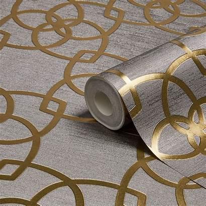 Metallic Gold Geometric Silver Diy Precious Muriva