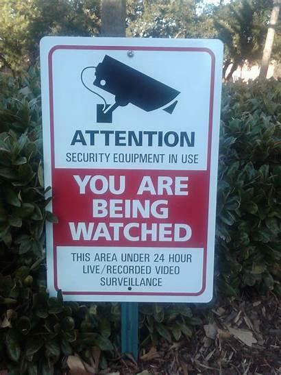 Signs Sign Cameras Surveillance Bad Belhaven Posted