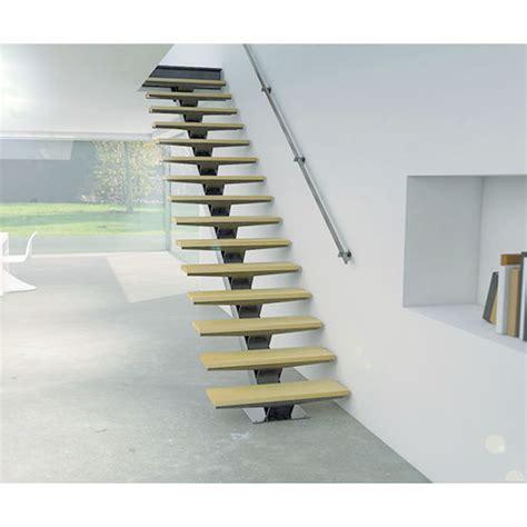 escalier droit sur mesure 224 limon central en kit pr 234 t 224 poser kozac