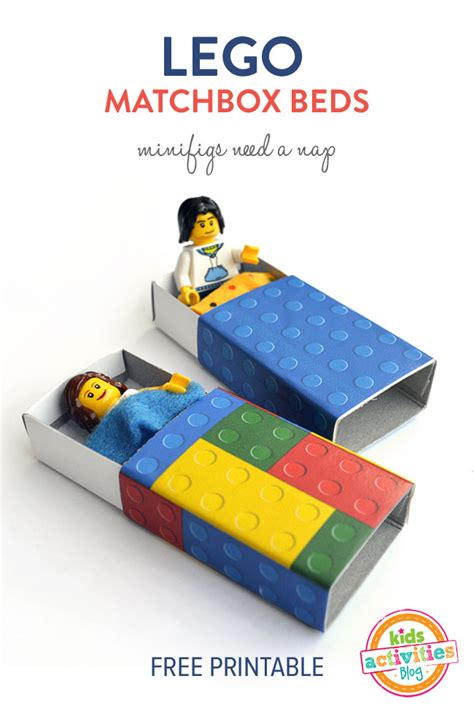 lego matchbox beds minifigs   nap