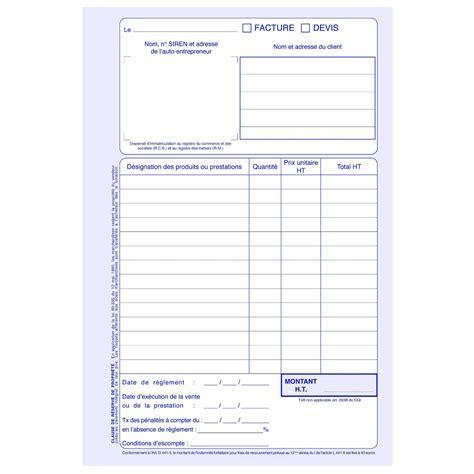 elve manifold factures devis 50 feuillets avec duplicata 21 x 14 cm registre elve sur ldlc