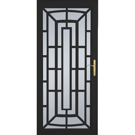 security doors lowes shop larson annapolis brass black aluminum security door