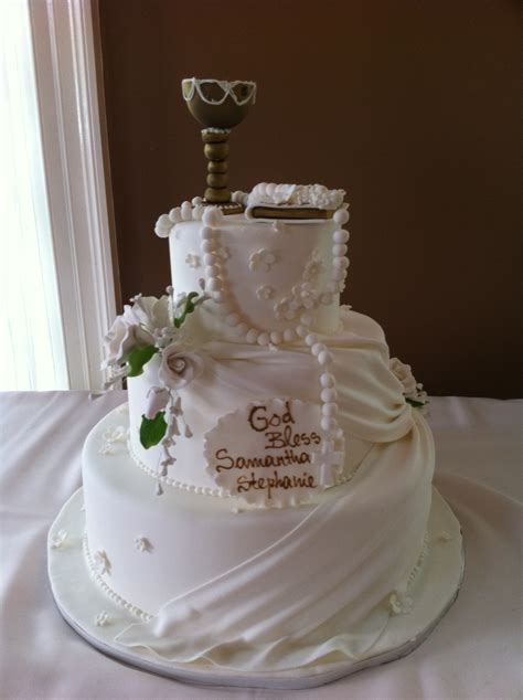 Elegant First Communion Specialty Cake - Palermo's