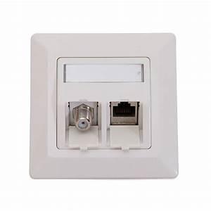 Cat 6a Dose : keystone netzwerk dose mit cat6a rj45 lan modul antenne sat f buchse modul reinw ebay ~ Buech-reservation.com Haus und Dekorationen
