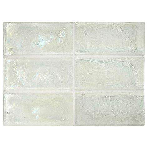 trueglass tile 2 quot x 4 quot recycled glass white pearl