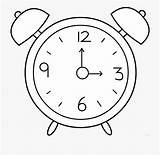 Clock Alarm Clipart Cartoon Coloring Netclipart Melting sketch template