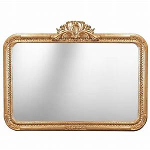 Grand Miroir Rectangulaire : grand miroir baroque rectangulaire de style louis xv rocaille ~ Preciouscoupons.com Idées de Décoration