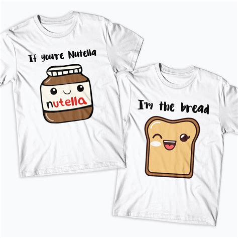nutella shirts couples matching if you 39 re nutella i 39 m