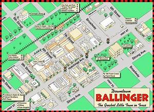 City Of Ballinger  Downtown Map  U2013 Corey Van Zandt