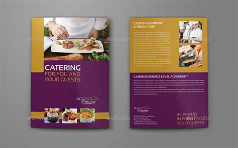 Catering Brochure Templates by Catering Brochure Bundle Template By Owpictures Graphicriver