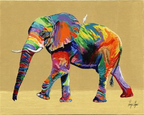 what color are elephants elephant on
