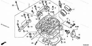 Honda Motorcycle 2015 Oem Parts Diagram For Cylinder Head