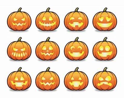 Lantern Jack Halloween Clipart Pumpkin Scary Cartoon