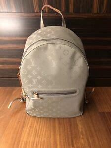 rare louis vuitton titanium backpack gm glaze monogram eclipse outdoor pacific ebay
