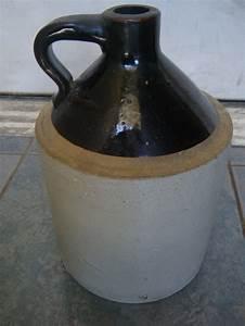 "Antique Stoneware Moonshine Jug 11"""