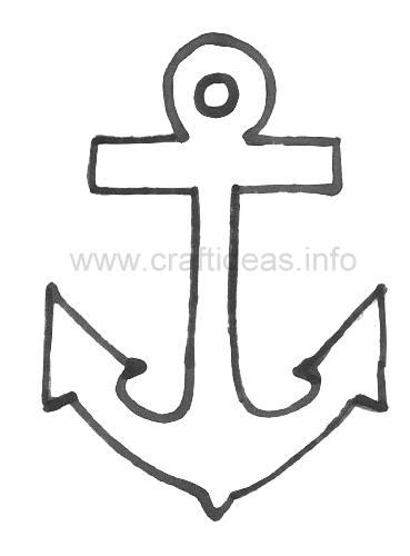 anchor template free summer and maritime craft pattern anchor template