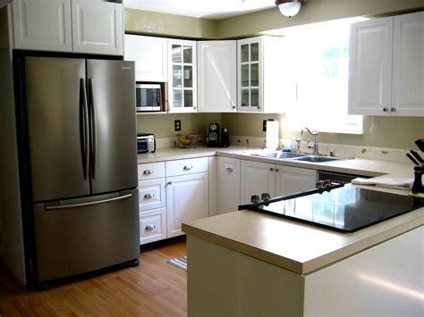 Wondrous White Painted Ikea Kitchen Cabinets With Laminate