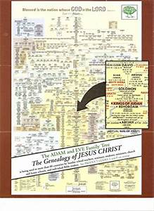 Adam And Family Tree Chart Biblical Wall Charts The Family Tree From Adam To Jesus