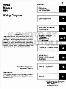 1993 Mazda Mpv Wiring Diagram Manual Original For Vans