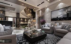Luxury, Living, Room, Main, Hall, -, Interior, Design, Villa