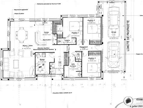 plan maison plain pied 100m2 3 chambres plan maison plain pied gratuit 28 images 1000 images