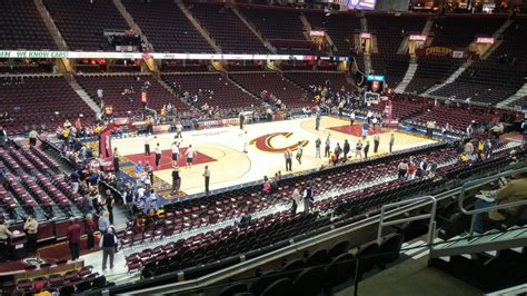 Cavs Lakers Floor Seats by Quicken Loans Arena Section 106 Cleveland Cavaliers