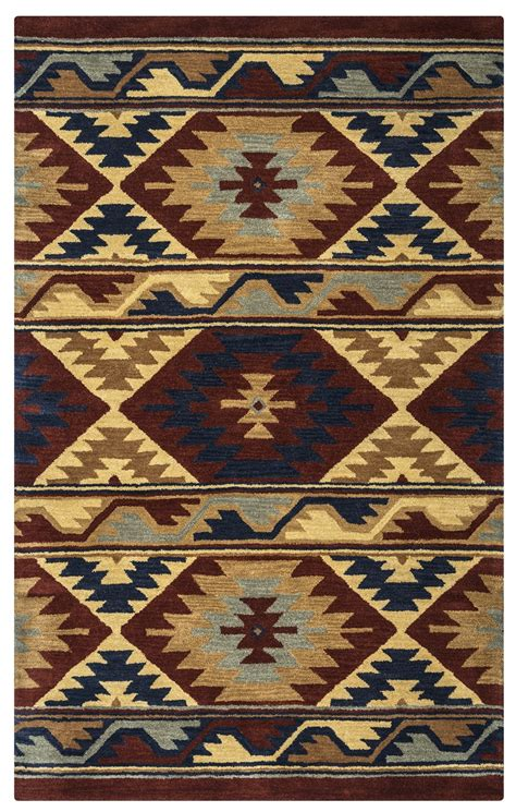 southwest area rugs southwest southwest motif wool area rug in navy gray