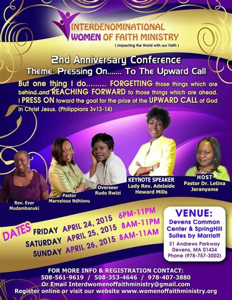 international women  faith ministry  anniversary