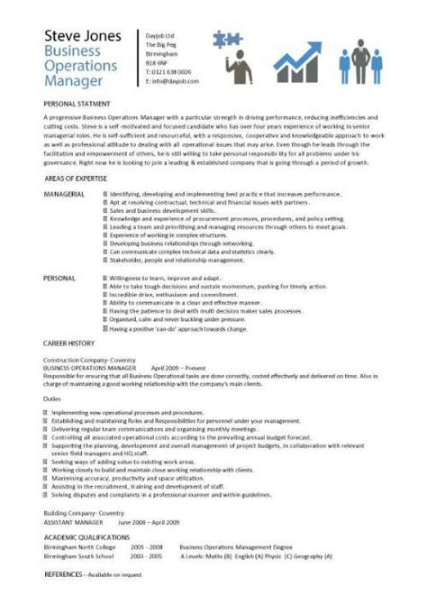 Sle Resume For Operations Manager by Business Operations Manager Resume Template Purchase