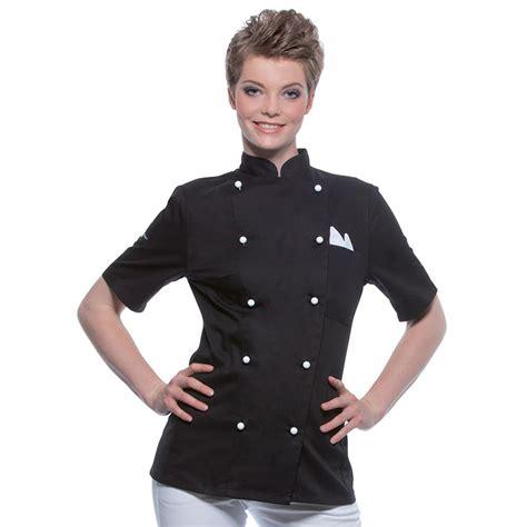 veste de cuisine personnalisé veste de cuisinier manches courtes pauline vestes