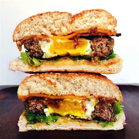 hamburger ideas egg in a hole burger recipe how to make an egg in a hole burger delish com