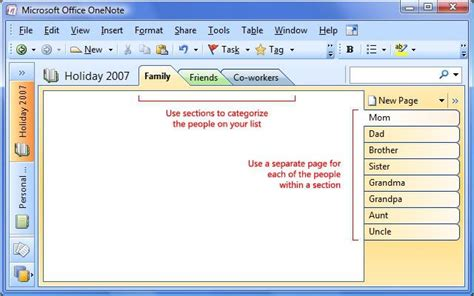 Section and page tabs in OneNote | Notes organization ...