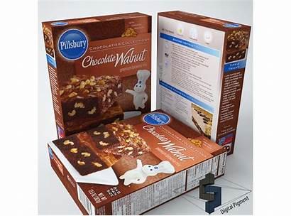Pillsbury Chocolate Brownie Walnut Mix Models Cgtrader