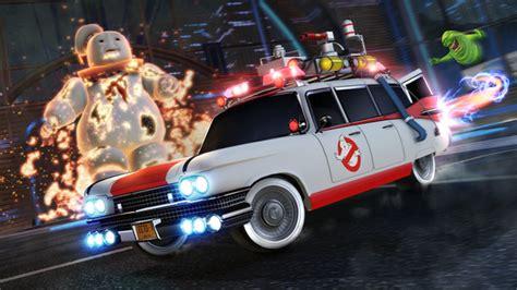 rocket league ghostbusters ecto  car pack dlc plaza