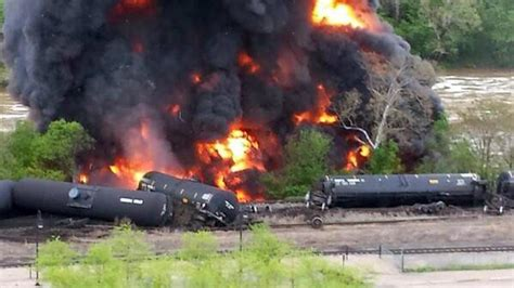 Train Derails In Lynchburg, Va., Creating Massive Fire