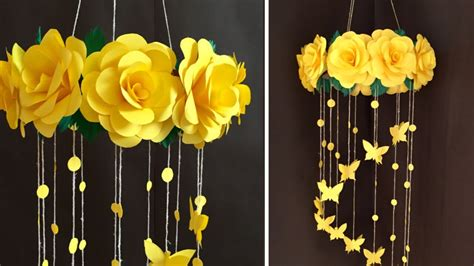 Dont forget to checkout our #paperwallhanging#paperflower#walldecor a beautiful decoration for your home. Paper Rose Flower Wall hanging | Home Decor Ideas - YouTube
