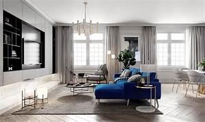 Salon Gris Bleu : salon s jour contemporain classique gris bleu blanc textile bois budget d co style contemporain ~ Melissatoandfro.com Idées de Décoration