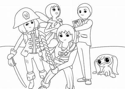 Coloring Playmobil Coloringnori Getcoloringpages Characters