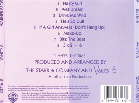 vanity 6 album dj richi vanity 6 vanity 6 u s cd 1982