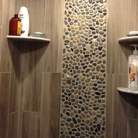 bathroom tile wall ideas tile for shower walls with ocean pebble tile shower wall accent home interior exterior