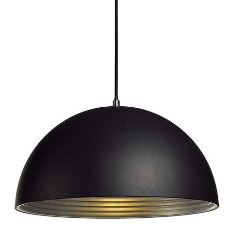 eclairage pour cuisine suspension dôme alu noir intérieur argent le avenue