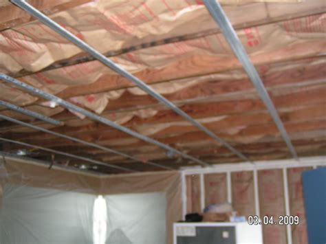 installing resilient channel ceiling