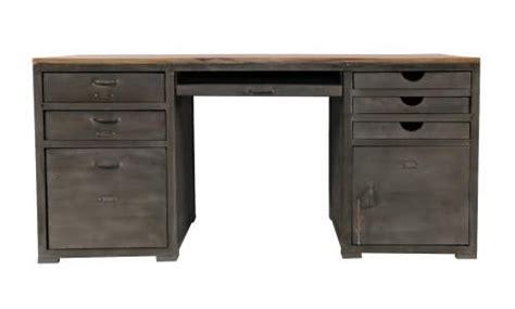 bureau metal bois bureau bois et métal loft