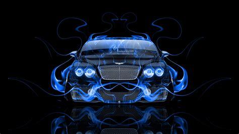 bentley continental gt front fire abstract car  el tony