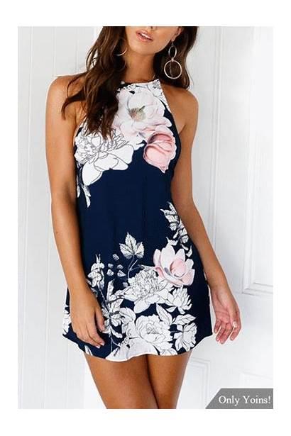 Floral Bare Dresses Halter Yoins Ivrose Bodycon