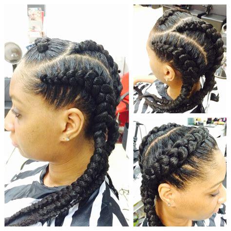 jumbo cornrows natural hairstyle big braids my work