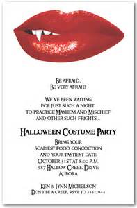 Blood Red Vampire Lips Halloween Invitations