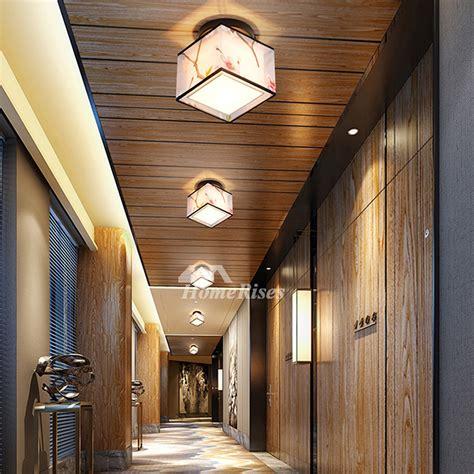 bedroom ceiling light fixtures semi flush square fabric